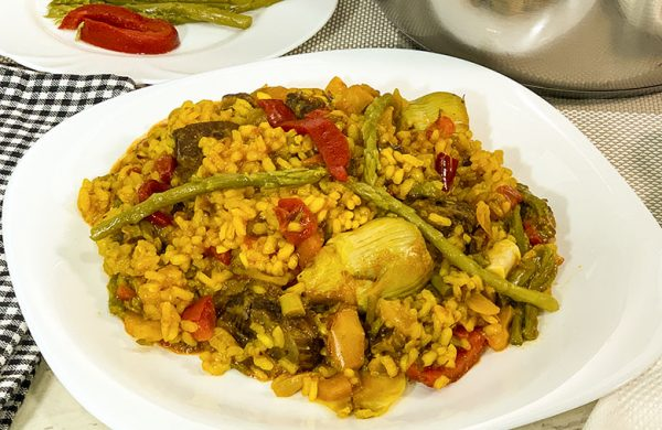 Arroz con carrillada en salsa