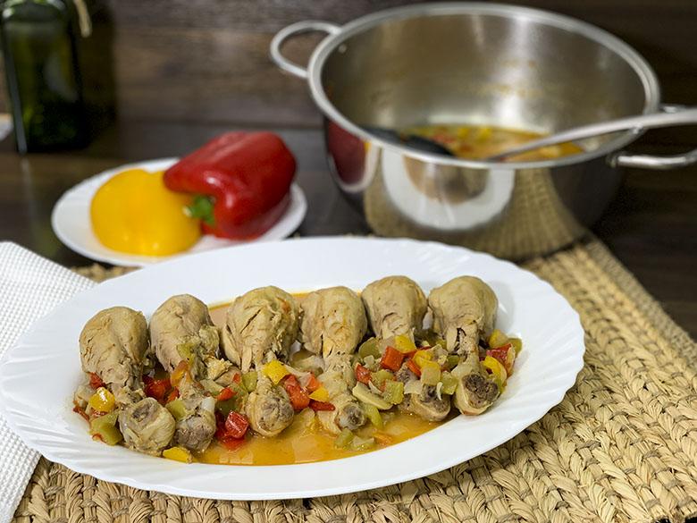 Muslos de pollo en salsa