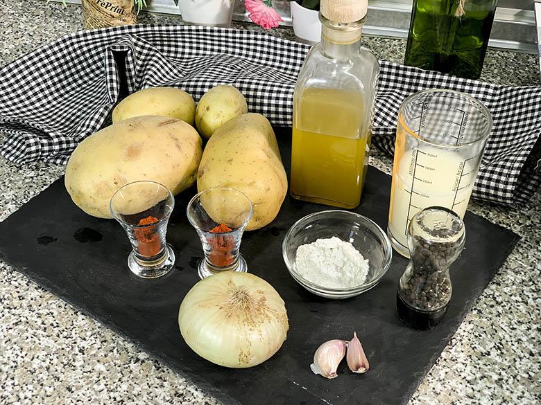 Ingredientes para Patatas bravas y salsa brava casera 1