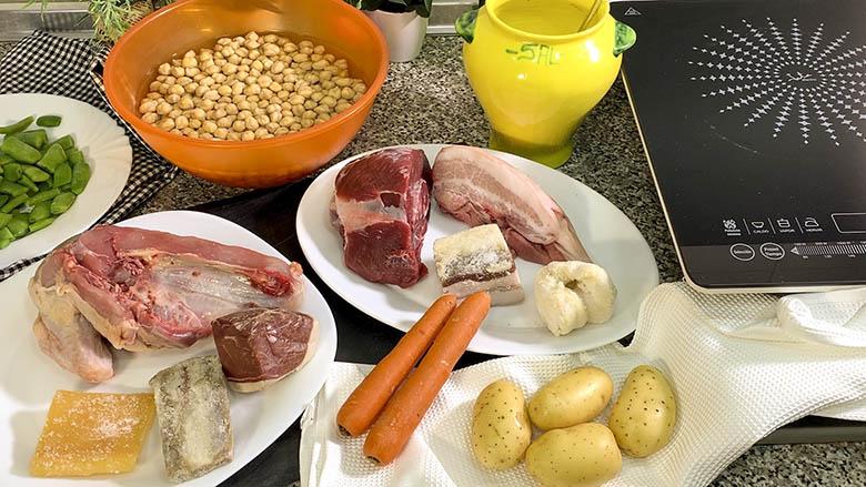 Ingredientes para el Puchero o cocido andaluz